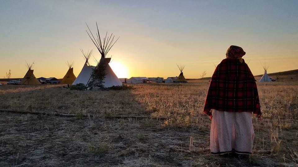 Lodges at sunrise